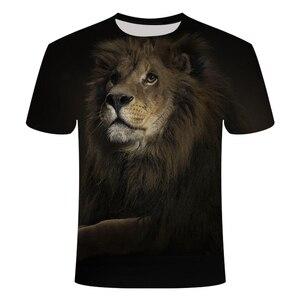 Мужская и женская футболка с орангутаном, летняя футболка с коротким рукавом и принтом в виде животных, 3D