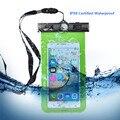 Annongon impermeable bolso del teléfono case accesorios para teléfonos móviles a prueba de suciedad cubierta para iphone 6 6 s plus 5S para samsung s6 borde