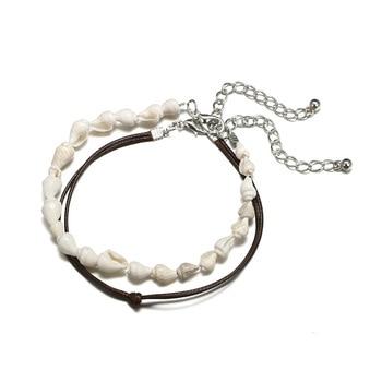 Bohemian Multilayer Anklet Bracelet Shell Turtle Anklets For Women Summer Beach Barefoot Bracelet Ankles Fashion Beach Jewelry 2