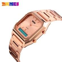 SKMEI Men Fashion Casual Quartz Wristwatches Digital Dual Time Sport Watches Chronograph Back Light 30M Waterproof Watches Mens