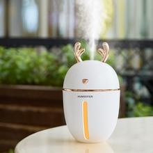 450ML Ultrasonic Air Humidifier Rich Fog 3 In 1 Cute Deer Humidificador USB Essential Oil Diffuser Aroma Difusor Lamp