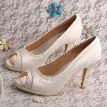 Wedopus MW466 Женская Обувь Кот Peep Toe Свадебные Вечеринка Каблуки Платформы