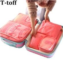 Нейлоновая Упаковка Cube дорожная сумка системы Прочный 6 шт. один комплект большой ёмкость унисекс костюмы сортировки мешок сумка органайзер