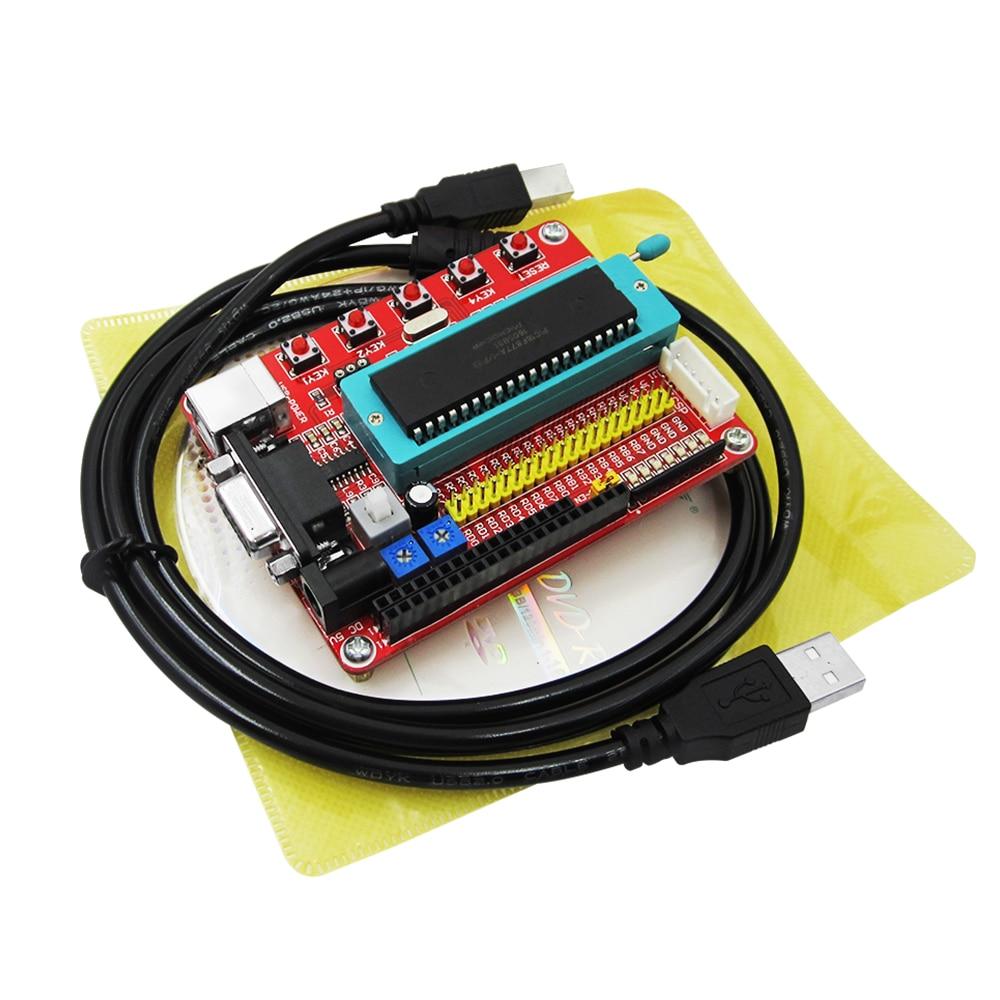 Freeship Microchip pic microcontroller minimum system development board  PIC16F877A + USB CABLE