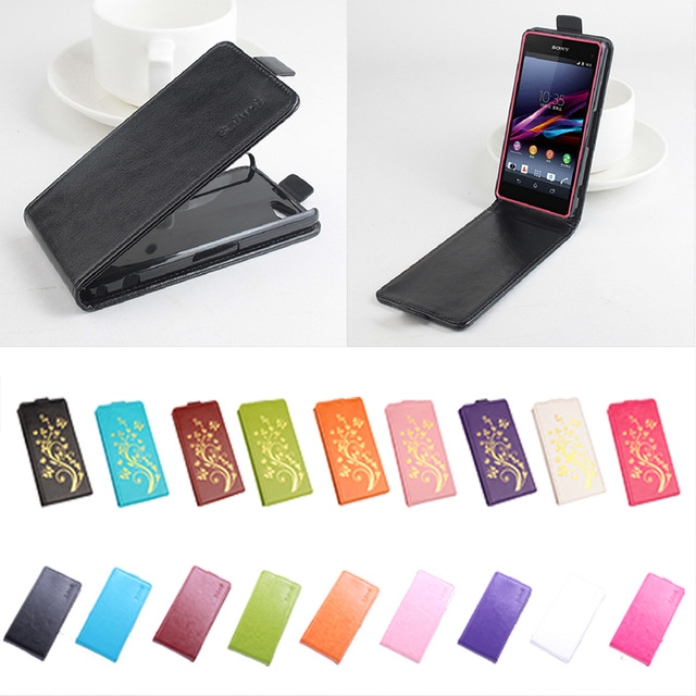 <font><b>Leather</b></font> <font><b>case</b></font> For <font><b>Sony</b></font> <font><b>Xperia</b></font> Z1 Compact Z1 Mini D5503 Flip cover housing For <font><b>Sony</b></font> <font><b>Xperia</b></font> Z <font><b>1</b></font> Mini / Z1Mini / D 5503 Phone <font><b>cases</b></font> image