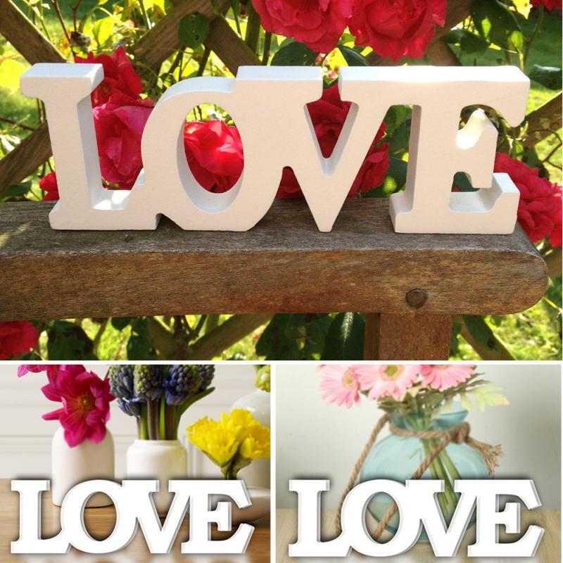 Wooden Wall Decoration, Love Sign, Wedding Family Party Decoration, Interior Sign, Painted White Wood Letters