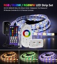 цена на 5M 300LEDs RGB Color Changeable 5050 LED Strip RGB / RGBW / RGBWW Flexible LED Light + Remote Controller + 12V 3A Power Adapter