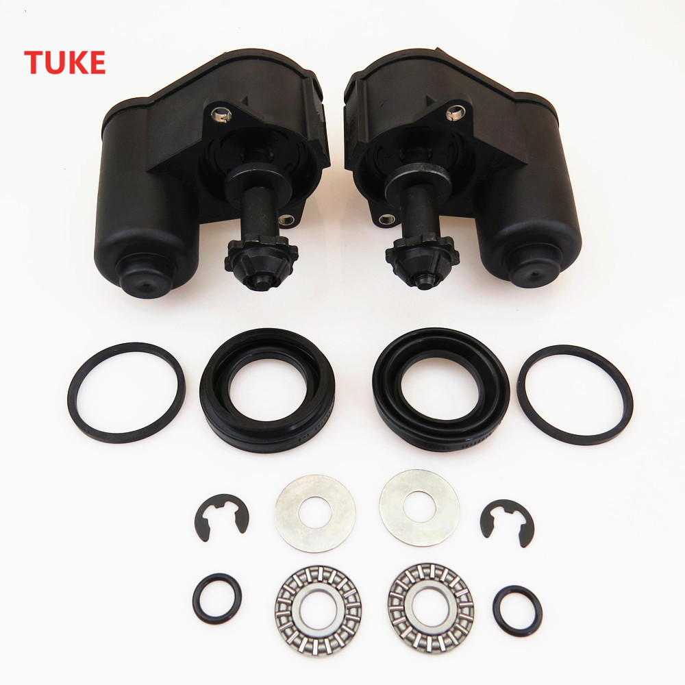 TUKE 2 Set For VW Passat B6 B7 Tiguan Sharan 6 Torx Rear Wheel Hand Brake Servo Calipers Motor + Drive Screw 3C0998281B 32332267 6 set rear brake motor screw combination kit for vw passat cc b6 b7 tiguan sharan a4 a5 sportback a6 q3 q5 s5 coupe 32326315