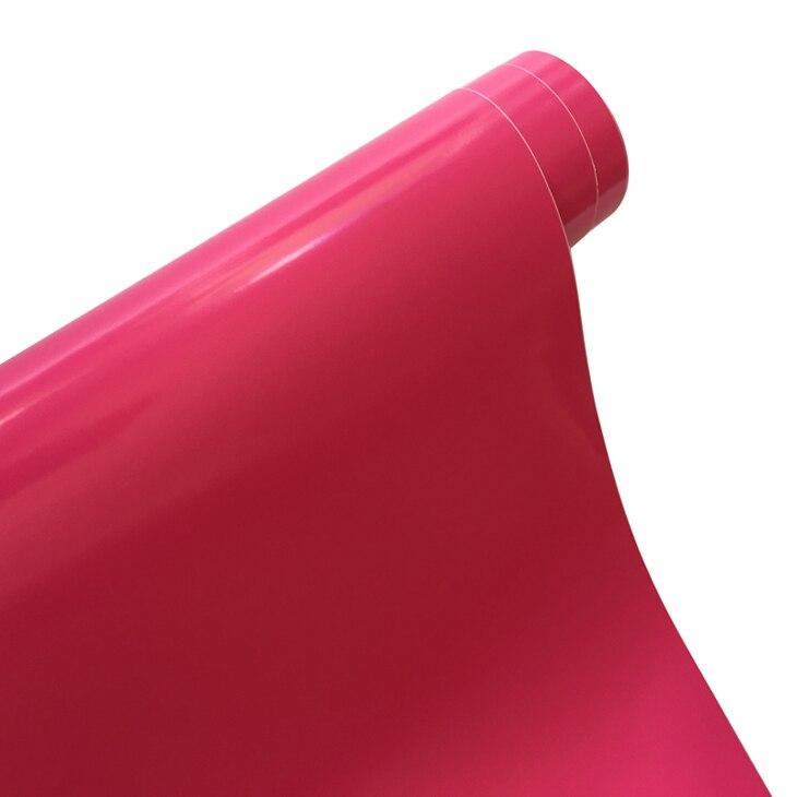 10/20/30/40/50X152 см Глянцевая красная виниловая пленка стикер глянцевый автомобиль обертывание Фольга Наклейка на автомобиль, скутер, мотоцикл обертывание ping Air Bubble бесплатно - Название цвета: Rose Red