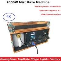 High Power 2000W Mist Haze Machine Stage Fogger Machine 5L Oil Capacity DMX 512 Smoke Machine For Stage Light Party Wedding Show
