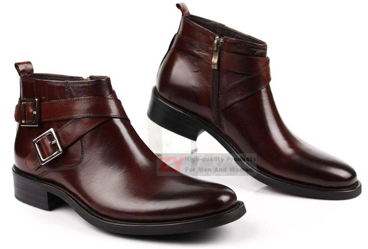 Aliexpress.com : Buy New Classic Men's real leather Ankle Boots ...