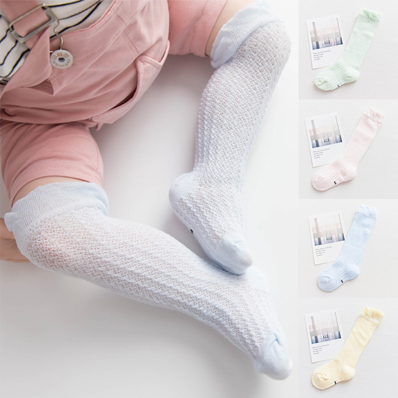 Anti slip Summer Breathable Baby Socks Cotton Knee High Mesh Socks Newborn baby girls Long socks Kids Infant Childrens SocksAnti slip Summer Breathable Baby Socks Cotton Knee High Mesh Socks Newborn baby girls Long socks Kids Infant Childrens Socks