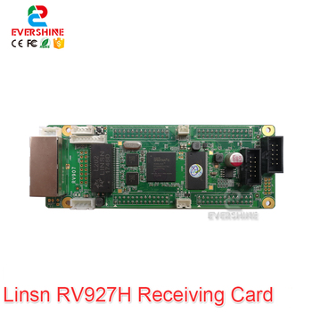 Linsn RV927 RV907 LED Receiving Card Work With TS802 Sending Card And P2 P3 P4 P5 P6 P8 P10 Full Color Rental Cabinet LED Screen