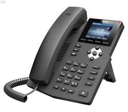 Fanvil x3s telefone ip sohoip indústria telefone 2 linhas sip hd voz poe habilitado fone de ouvido inteligente deskphone