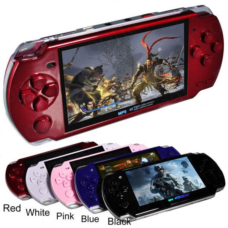 FREE Built-in 5000 games, 8GB 4.3 Inch PMP Handheld Game Player MP3 MP4 MP5 Player Video FM Camera Portable Game Console