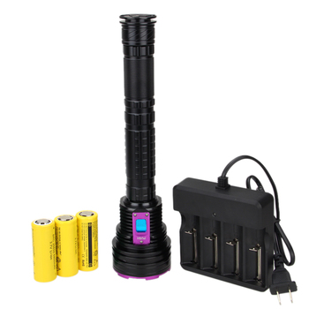 Diving Flashlight 6000 LM 12x T6 LED Diving Scuba Aluminum underwater 100m Flashlight Torch with 26650 Battery+Charger
