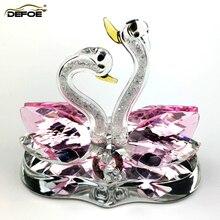 Enfeites para casa Criativa decoração do carro perfume assento de carro perfume decoração de Cristal cisne casal material melhor presente para as pessoas