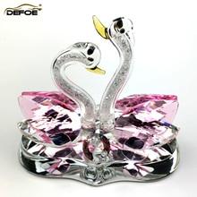 Ornements de voiture créatifs maison voiture décoration parfum siège cygne couple parfum décorations cristal matériel meilleur cadeau pour les gens