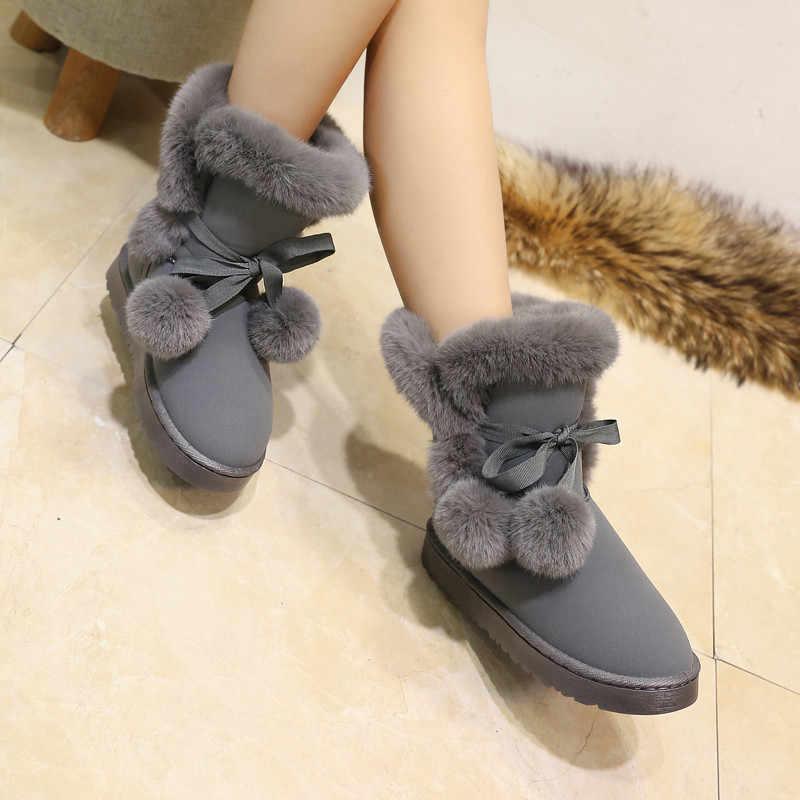 FEVRAL คุณภาพผู้หญิงรองเท้ารอบ Toe เส้นด้ายยืดหยุ่นข้อเท้ารองเท้าส้นหนารองเท้าส้นแบนรองเท้าผู้หญิงหญิงถุงเท้าถุงเท้า 2019 ฤดูหนาว