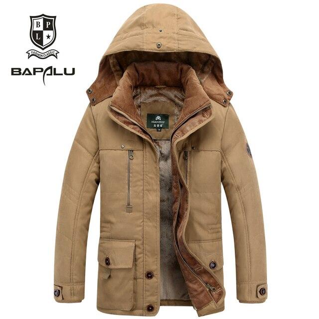 Best Price The new winter jacket Middle age Men Plus thjck warm coat jacket men's casual hooded Cotton coat jacket size 4XL 5XL 5860