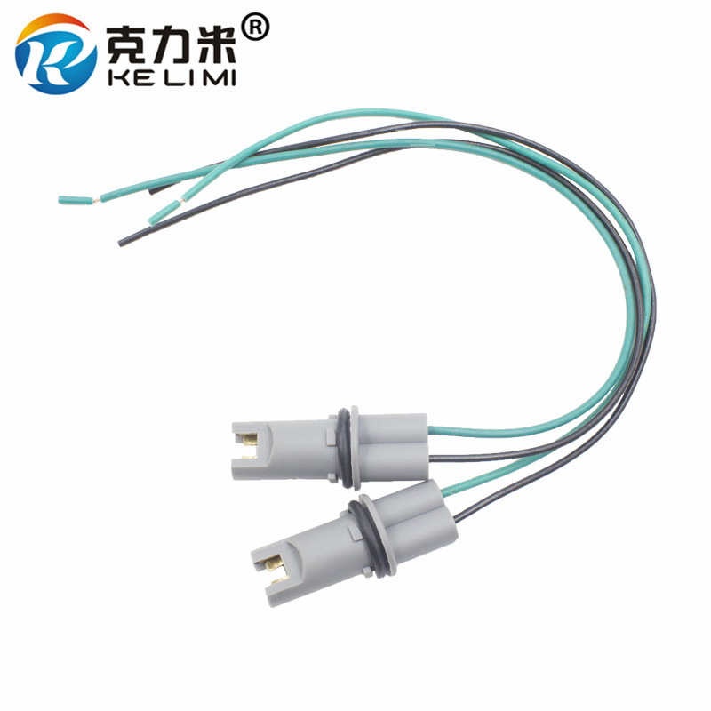 KE LI MI 4x Car LED Bulb Light Holder Base Socket T10 T15 W5W 194 168 High-temperature Cable adapter Harness Plug Connector T10