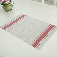4pcs PVC Weave Dining Table Placemat EuropeStyle Tableware Pad Coaster Coffee Tea Place Mat Kitchen Tool Home Decoration 30*45cm