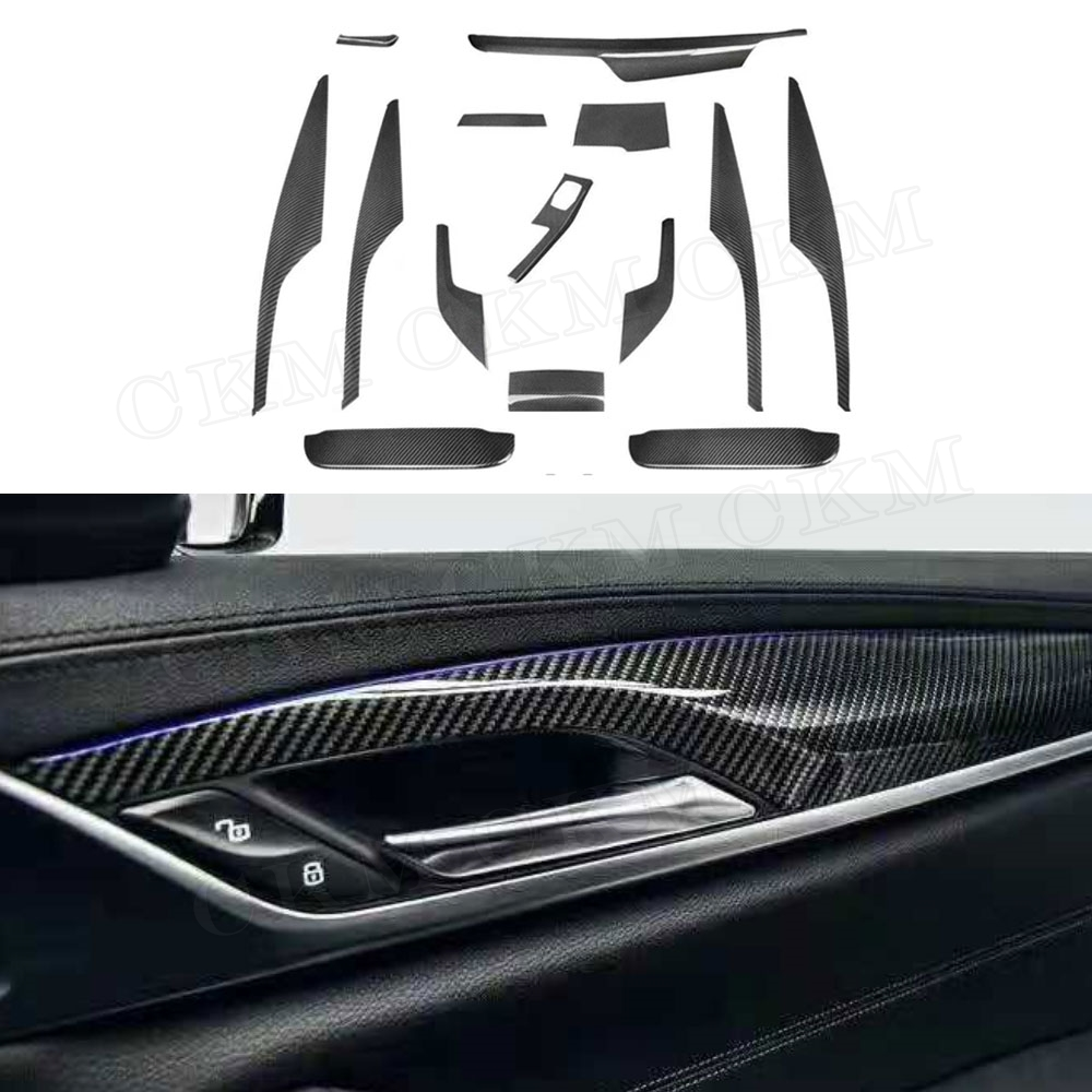 5 Series Left Hand Drive Carbon Fiber Interior Dashboard Moulding Trim Cover for BMW G30 G31 G38 528li 530li 2017 2018