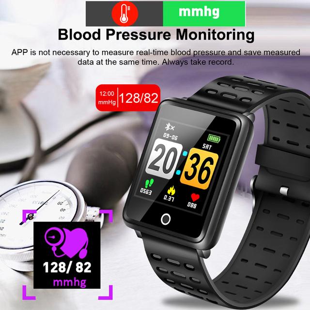 BANGWEI Sport Watch Depth IP68 Waterproof Smart Watch Blood Pressure Heart Rate Monitor Calorie Pedometer Information Reminder