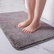 Indoor Bathroom Rug Non-slip Set Absorbent Dirt Catcher Rectangle Floor Mats Feet Soft Microfiber Home Carpet Anti-skid Bath Mat