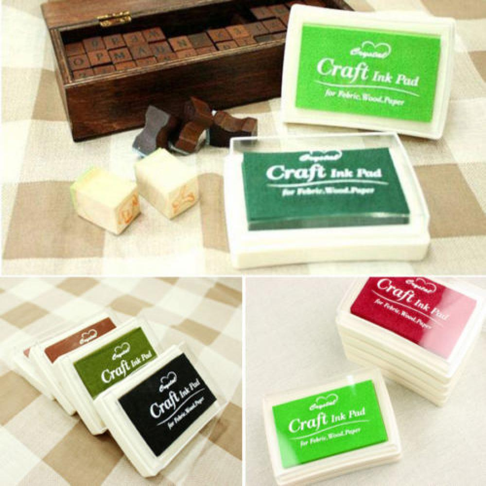 Handmade DIY Craft Oil Based DIY Ink Pad Rubber Stamps Fabric Wood Paper Scrapbooking 8 Colors Ink pad Finger Paint