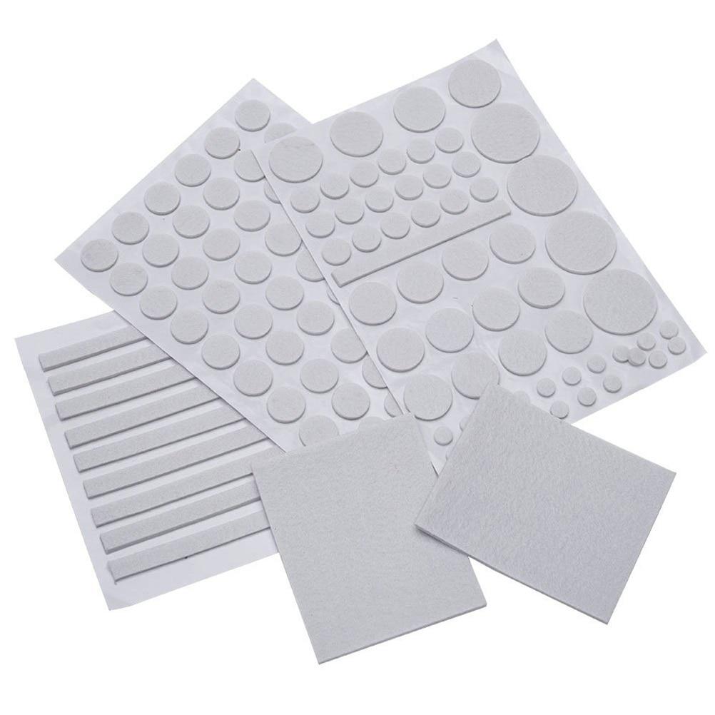 132/Sets Furniture Floor Protector Floor Felt Pad Slide Skid Glide DIY Nail  Protector Plastic
