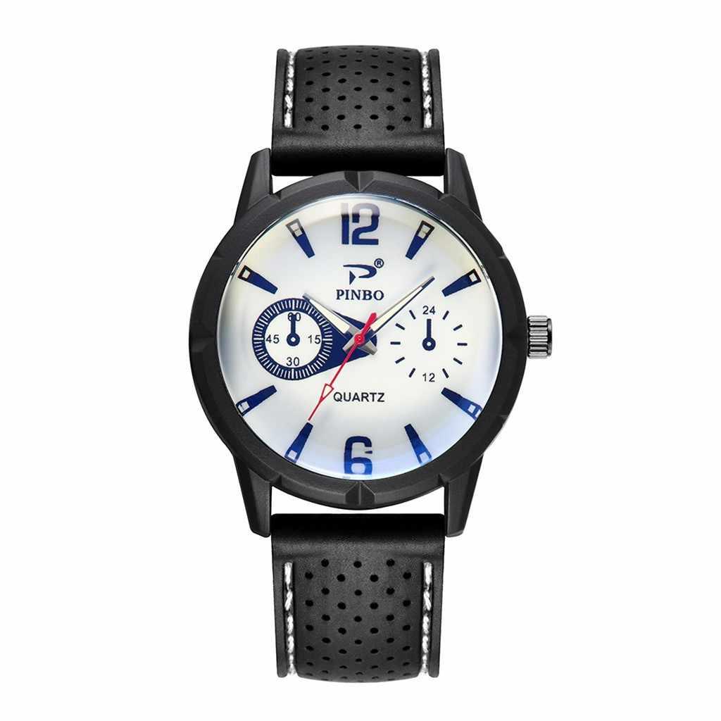 רך סיליקון גומי רצועת גברים שעון ספורט כושר שעונים עבור גברים מדומה קוורץ שעון מתנת שעון לגברים 2019 אופנה שעון