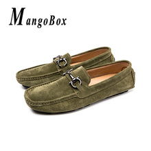 Spring Autumn Mens Loafers Khaki Army Green Man Casual Loafers Comfortable Driving Male Shoes Slip-On Walking Flat Shoes roegre spring mens casual loafers shoes men comfortable slip on flat suede leather driving shoes mocassins for man blue grey