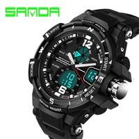 2016 New Brand SANDA Fashion Watch Mens Sports Watches Shock Digital Relogio Masculino Military Waterproof Wristwatche