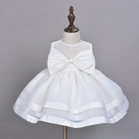 2016 New Brand Baby Girl Baptism Dress White Infant Princess Dresses For Formal Occasion 1 Year