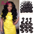 Ear To Ear Lace Frontal Closure With Bundles Brazilian Virgin Hair Body Wave 3 Bundles With Closure Body Wave With Lace Closure