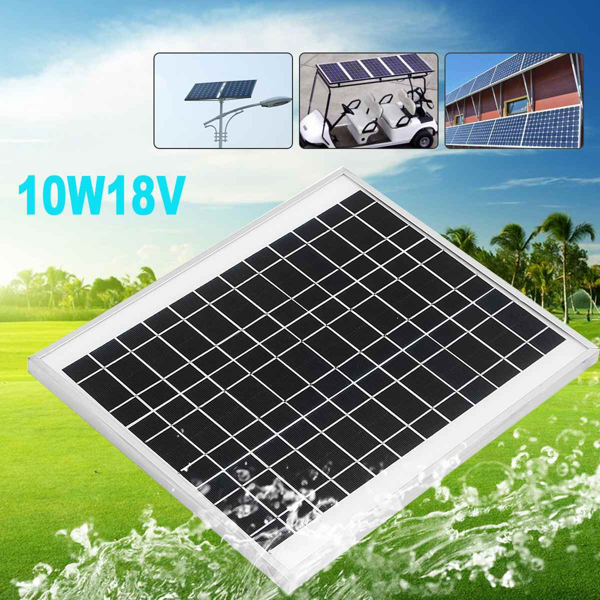 KINCO 10W 18V Monocrystalline Silicon Solar Panels High Conversion Rate And Output DIY Solar System For Car Battery RT Boat