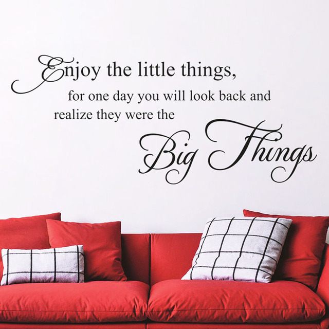 Enjoy The Little Things Encouraging Wall Sticker Beautiful Words ...