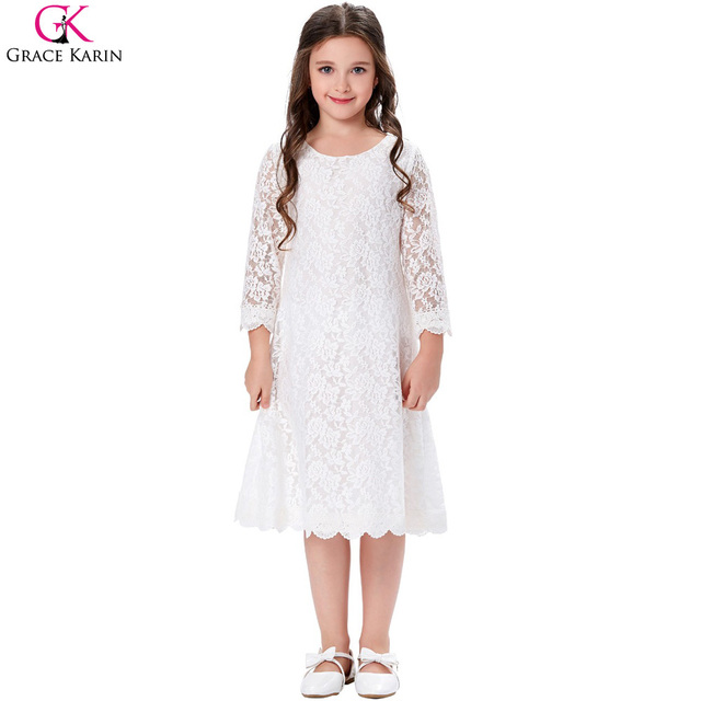 c9afd0c563d Grace Karin Flower Girl Dresses Lace Toddler Girl Party Dress Princess Gowns  Fashion Summer Kids Clothes