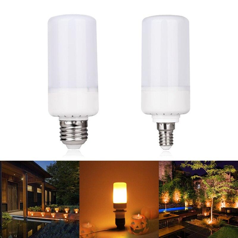 LEDSMITH LED Flame Effect Fire Light Bulbs E27 E14 5W 3modes Safe And Energy-saving LED Light Bulb AC85-265V