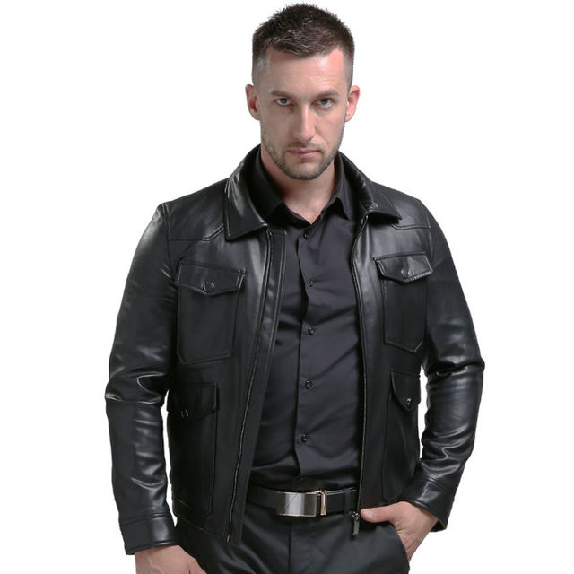 Argy High Quality New Style Brand Luxury Fashion Men's Leather Jacket 4XL Casual Haining Male Leather Jacket Coats For Men PU13