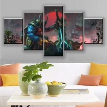 Canvas Paintings Wall Art Framework For Living Room Home Decor 5 Pieces Armor DotA 2 Sven Sword Warrior Pictures Game Posters