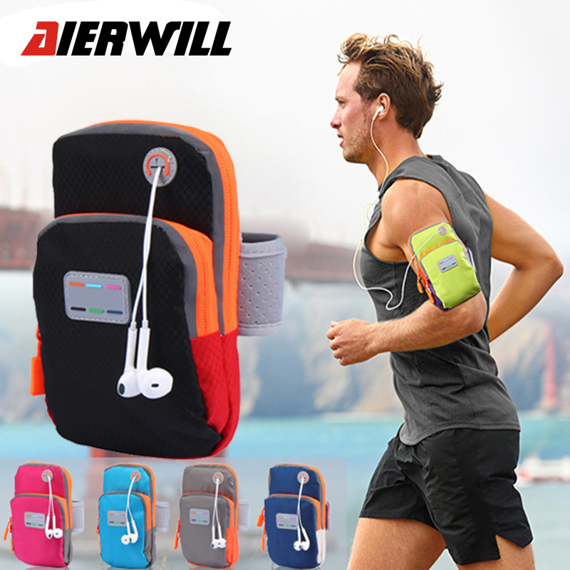 Aierwill 5.7inch Running Bag Arm Wrist Sport Band Mobile <font><b>Phone</b></font> Case Running Jogging <font><b>WaterProof</b></font> Gym Arm Outdoor B Holder <font><b>Pouch</b></font>