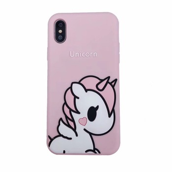 For iPhone XS Max Cover UYFRATE Cartoon Cute Unicorn Silicone Soft Case For iPhone XS Max XR XS X 8 8 Plus 7 7Plus 6 6S 6 Plus