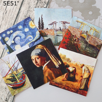Handmade cloth DIY cotton canvas fabric / positioning cloth hand dyed patchwork cloth digital printing Van Gogh oil painting handmade cloth diy cotton canvas fabric van gogh oil painting handmade cotton decorative painting