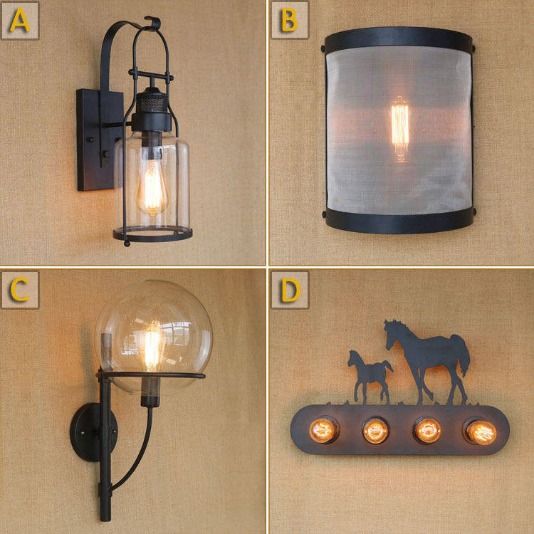 Edison LED Vintage Wall Lamp Light Fixtures Indoor Lighting Retro loft Style Industrial Wall Sconce Arandela Apliques Pared цена