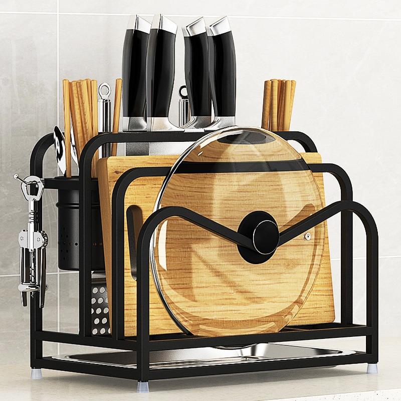 Letaotao Stainless Steel Knife Holder, Vegetable Board Chopping Kitchen Articles Holder