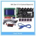 МКС Gen V1.4 Плата управления комплект с МКС Gen V1.4 RepRap доска + 5 ШТ. 8825 водитель + 12864 Графический ЖК-