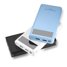 플라스틱 7x18650 휴대용 diy 전원 은행 케이스 외부 백업 배터리 쉘 여행 팩 충전기 전화 usb 포트