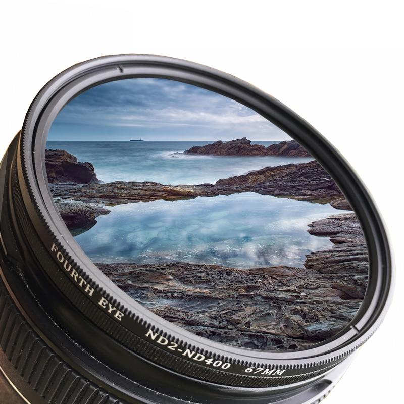 37/40. 5/43/46/49/52/55/58/62/67/72/ 77/82/86mm ND Fader ND2-400 Variable Neutral Density Filter für Canon Nikon Sony Kamera Objektiv